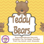 Be My Teddy Bear… Freebie
