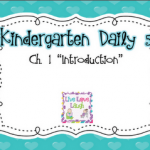 Kindergarten Daily 5 Book Study- Chapter 1