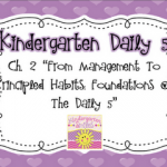 Kindergarten Daily 5 Book Study Part 2
