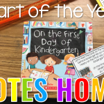 Freebie Start of the Year Reading Notes Home