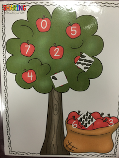 apple themed number sense