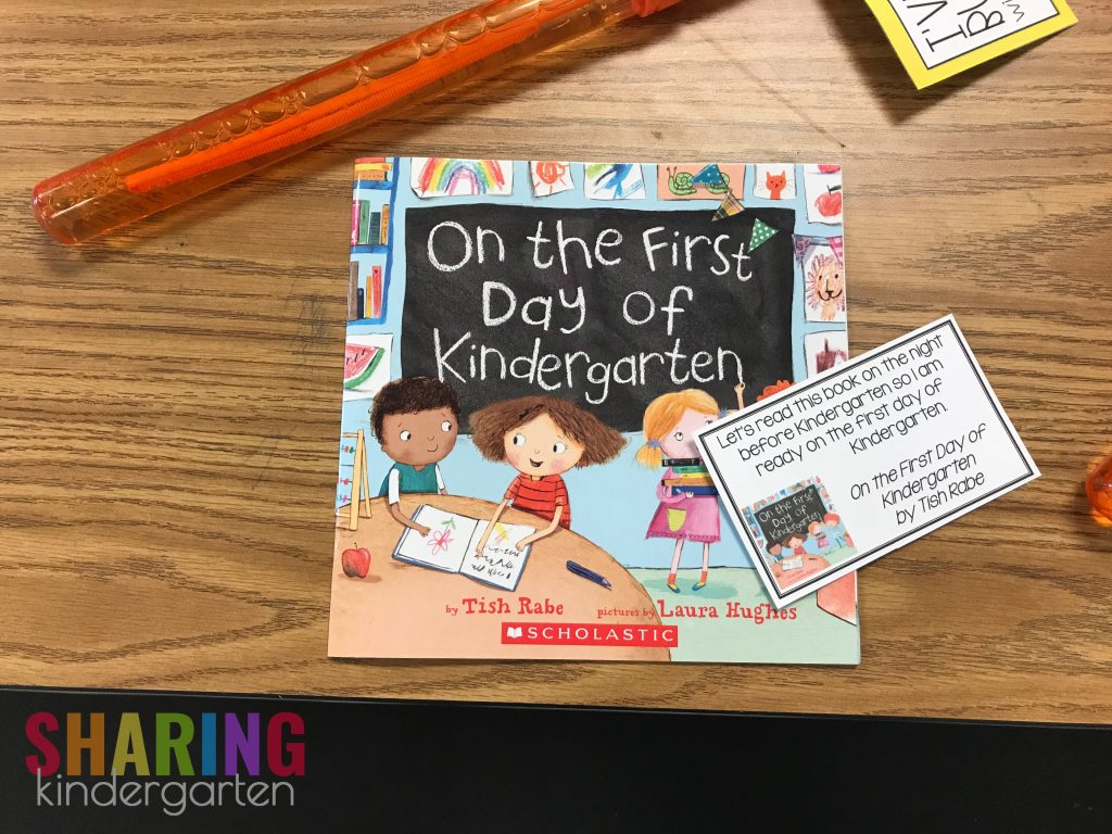 On the First Day of Kindergarten Note Home