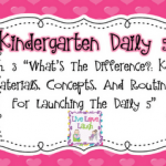 Kindergarten Daily 5 Book Study