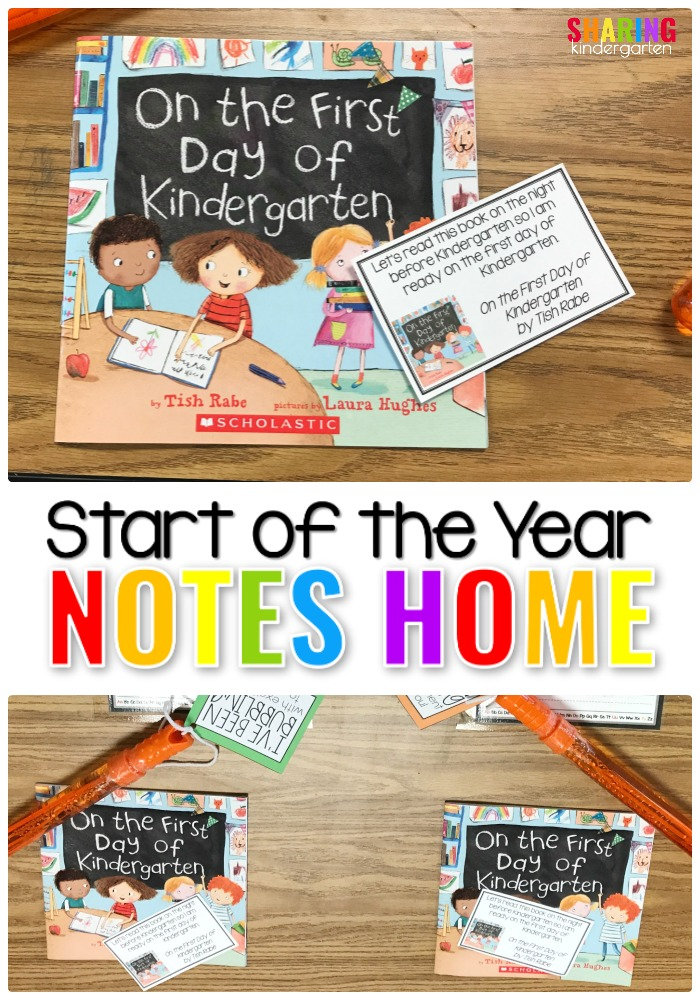 Start of the Year Notes Home