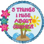 5 Things I Miss About Summer