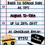 It's Back to School SALE time!