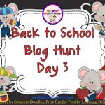 Back to School Blog Hunt Day 3