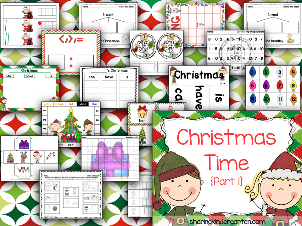 http://www.teacherspayteachers.com/Product/Christmas-Time-Part-1-1017877