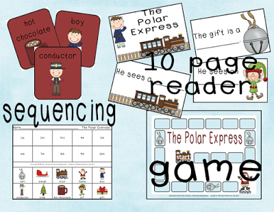 sequencing cards, 10 page reader, and reading comp game