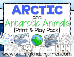 Arctic and Antarctic Animals Print & Play Pack