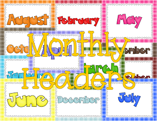 Digital Scrapbook Monthly Headers