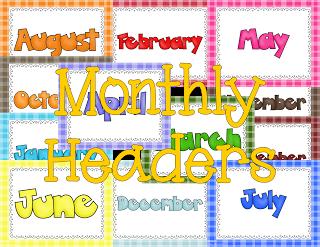 Digital Scrapbook Monthly Headers