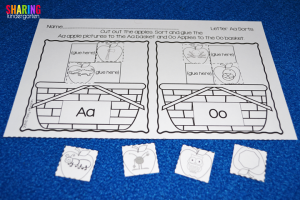 A is for Apple: Sound sorting sheets