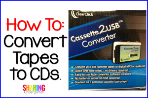 How to: Convert Tapes to CDs.