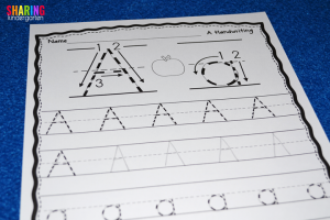 A is for Apple: Handwriting fun!
