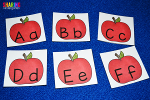 A is for Apple: sequencing letters to review for recognition and sounds