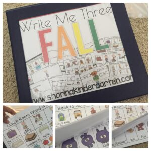 Write Me Three Fall Binder prep