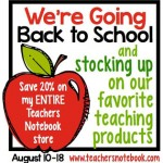 Teacher's Notebook Back to School Sale