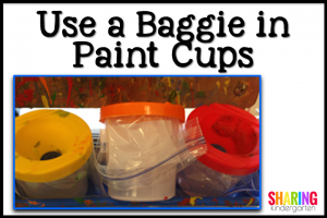 Try using a baggie in a paint cup