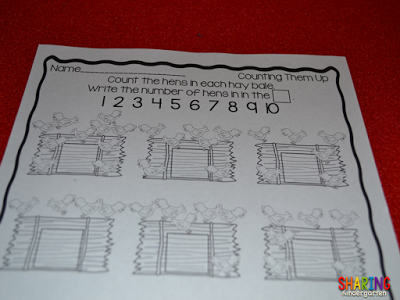 Counting Printable for kinders