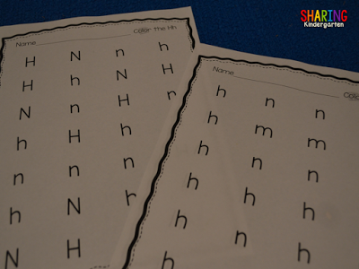 identify the letter Hh with this printable