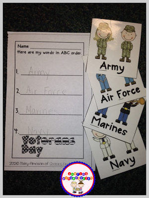 ABC Ordering Military Branches