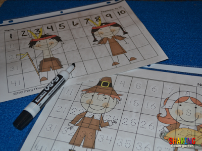 Number Writing Practice Thanksgiving Style