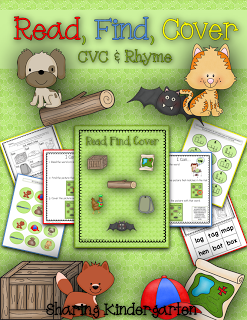 http://www.teacherspayteachers.com/Product/Read-Find-Cover-CVC-Rhyme-1027957