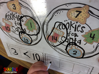 Comparing Numbers with Chrismtas Cookies