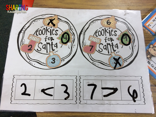 Cookies for Santa comparing numbers game