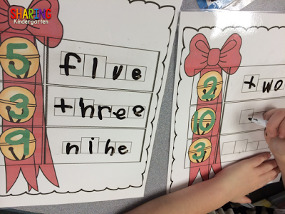Jingle Bells Number Words Activity