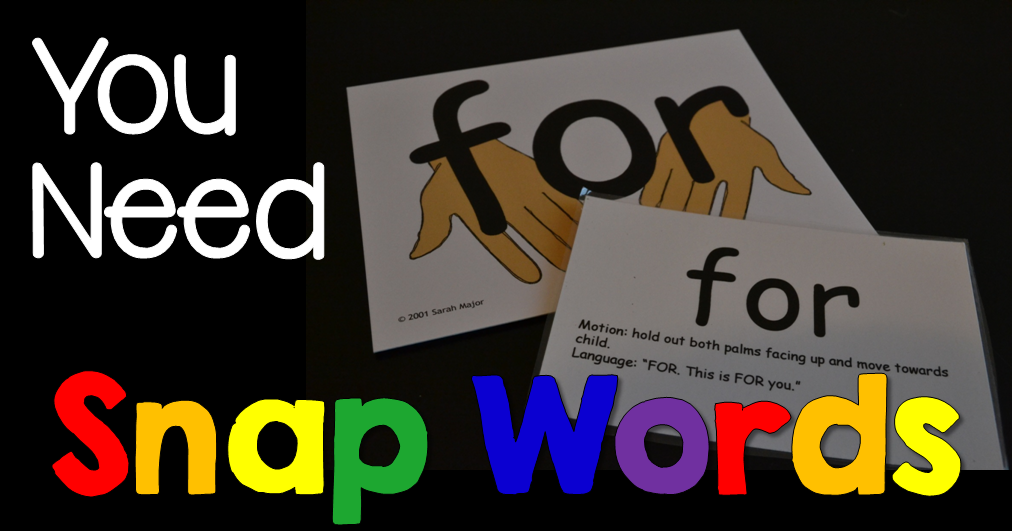 Snap Words Cards and Apps