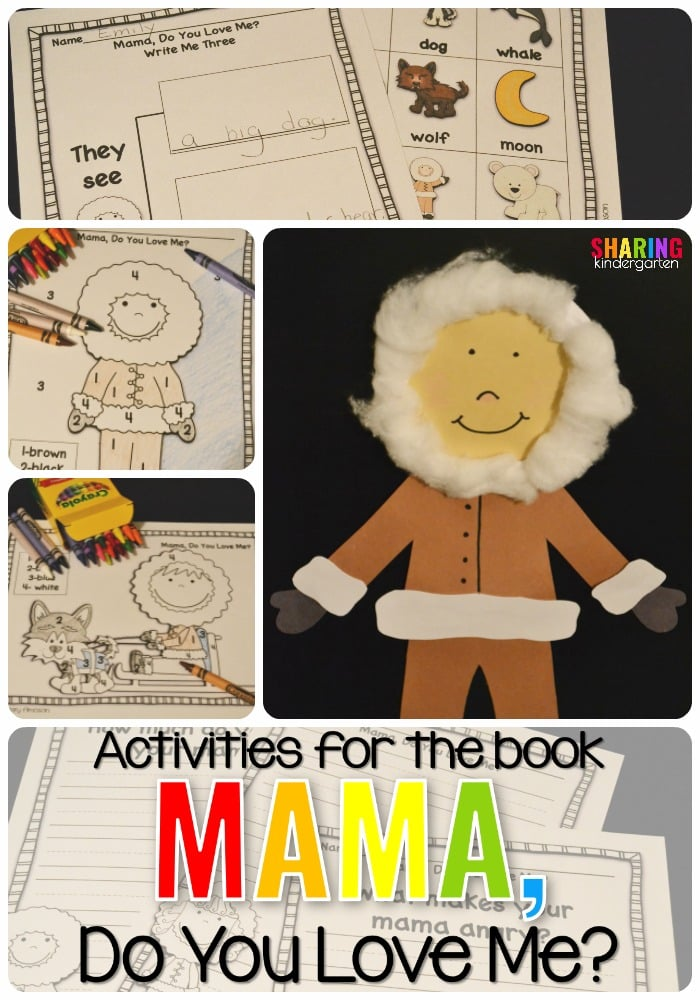 Activities for the book, Mama, Do You Love Me?