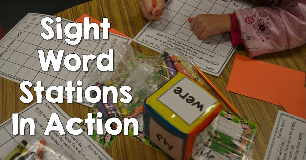 Sight Word Stations in Action