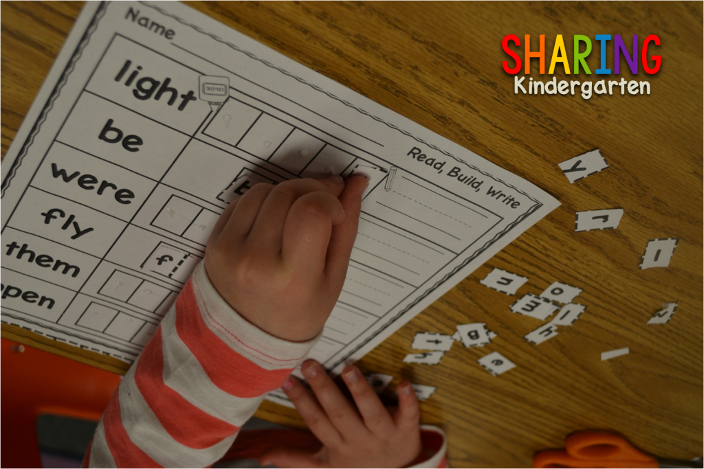 Read, Build, Write to learn sight words