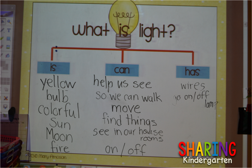 Light is, can, has chart