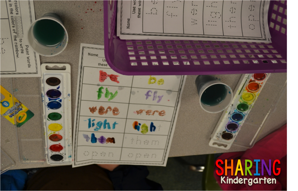 watercolor sight words