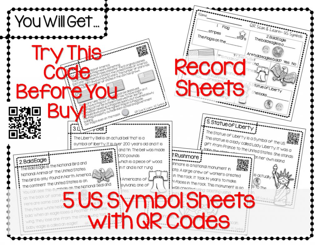 http://www.teacherspayteachers.com/Product/QR-Scan-Learn-US-Symbols-1112016
