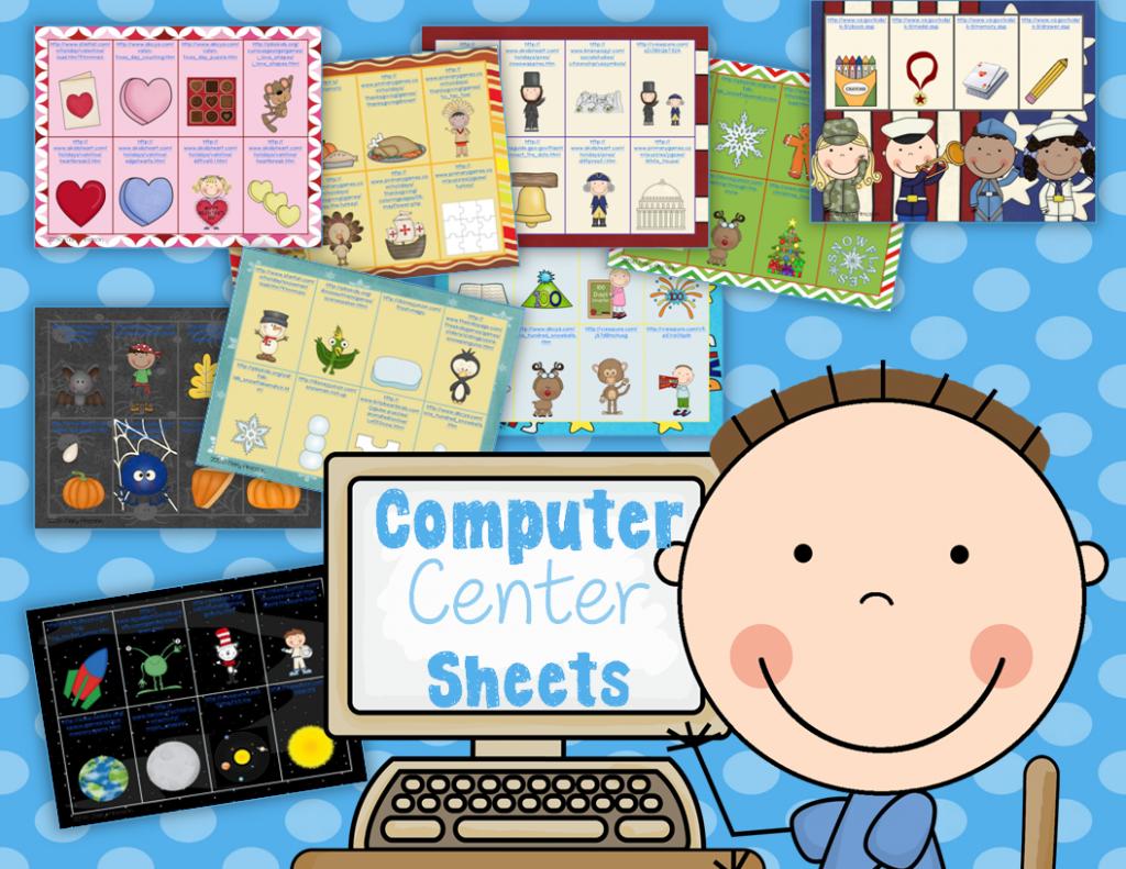 http://www.teacherspayteachers.com/Product/Computer-Center-Sheets-1066694
