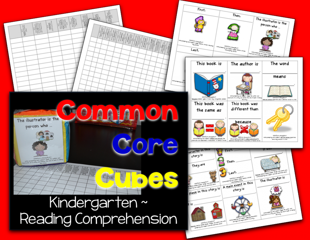 http://www.teacherspayteachers.com/Product/Common-Core-Cubes-Kindergarten-Reading-Comprehension-1135993
