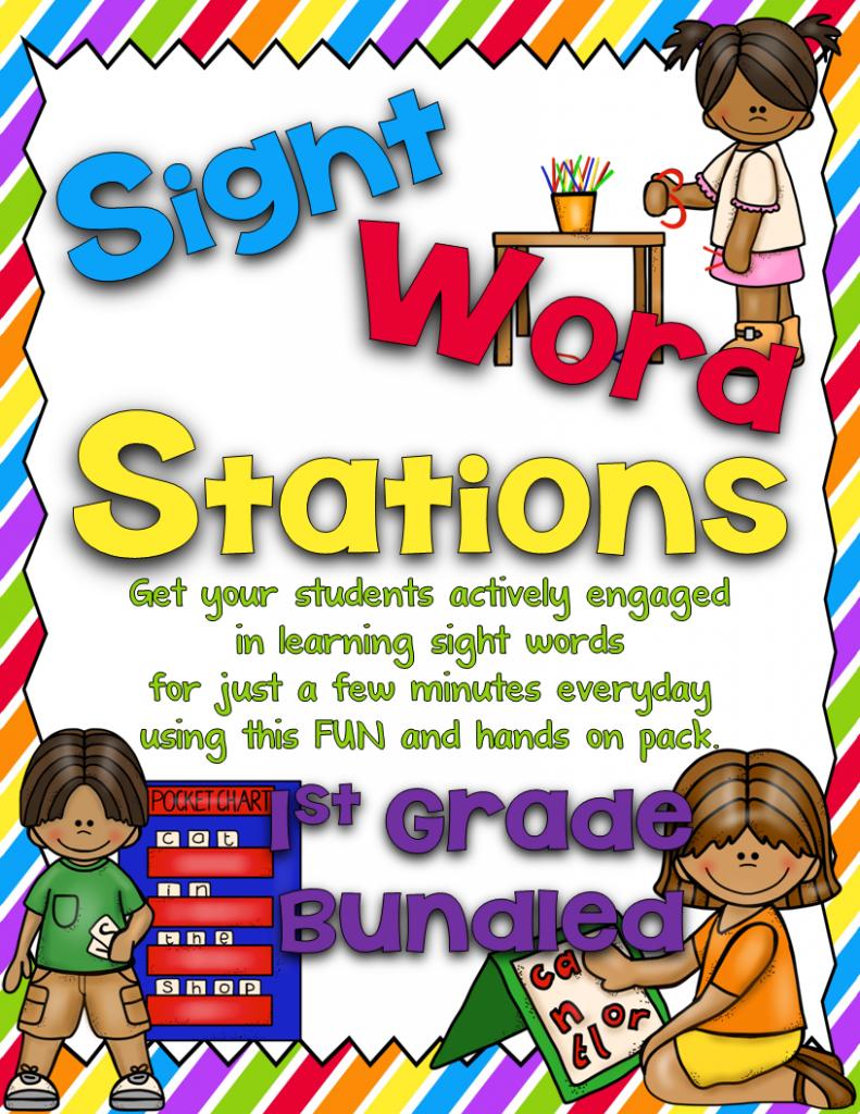 https://www.teacherspayteachers.com/Product/Sight-Word-Stations-First-GradeBundled-1156233