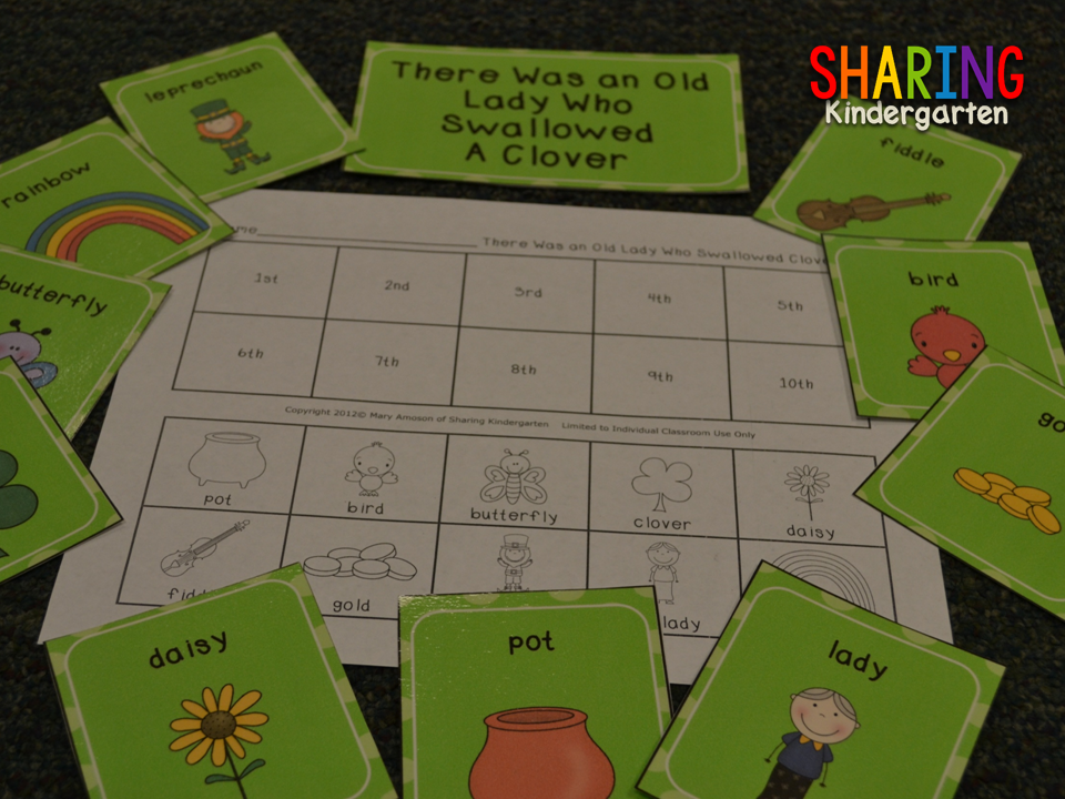 St. patricks themed orderign cards and printable