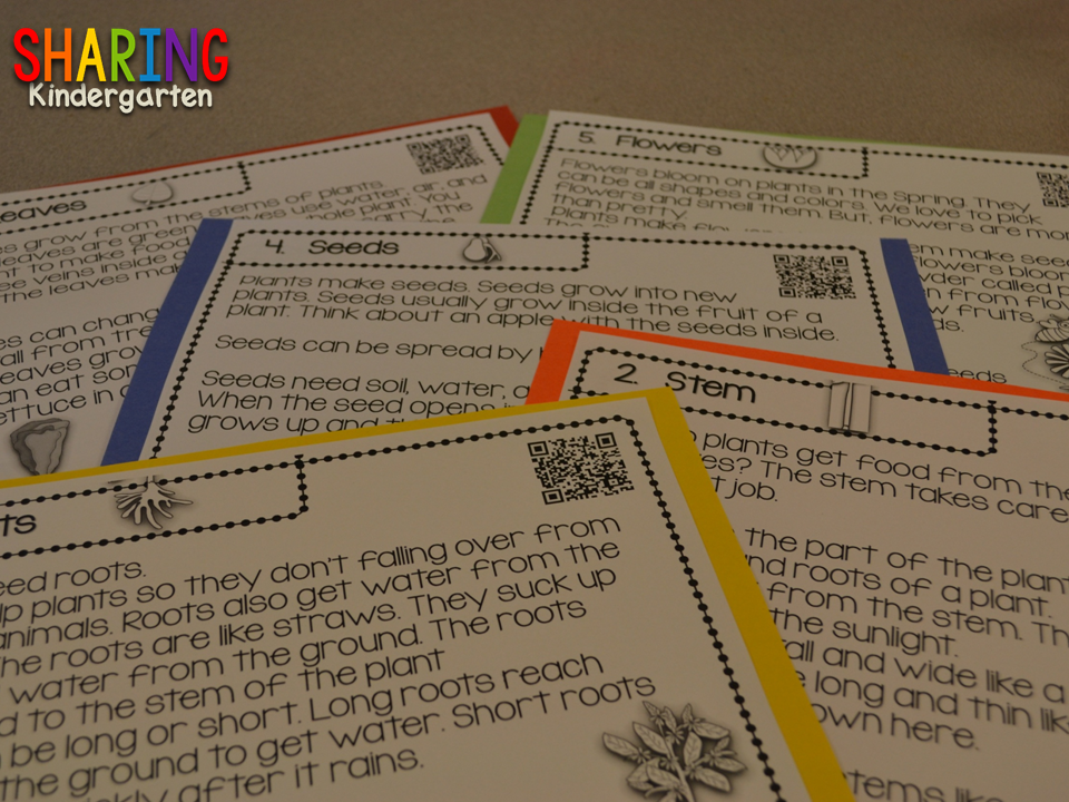 http://www.teacherspayteachers.com/Product/QR-Scan-Learn-Parts-of-a-Plant-1173382