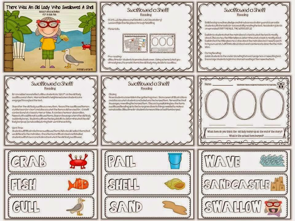 http://www.teacherspayteachers.com/Product/There-Was-An-Old-Lady-Who-Swallowed-a-Shell-Sub-Tub-1242392
