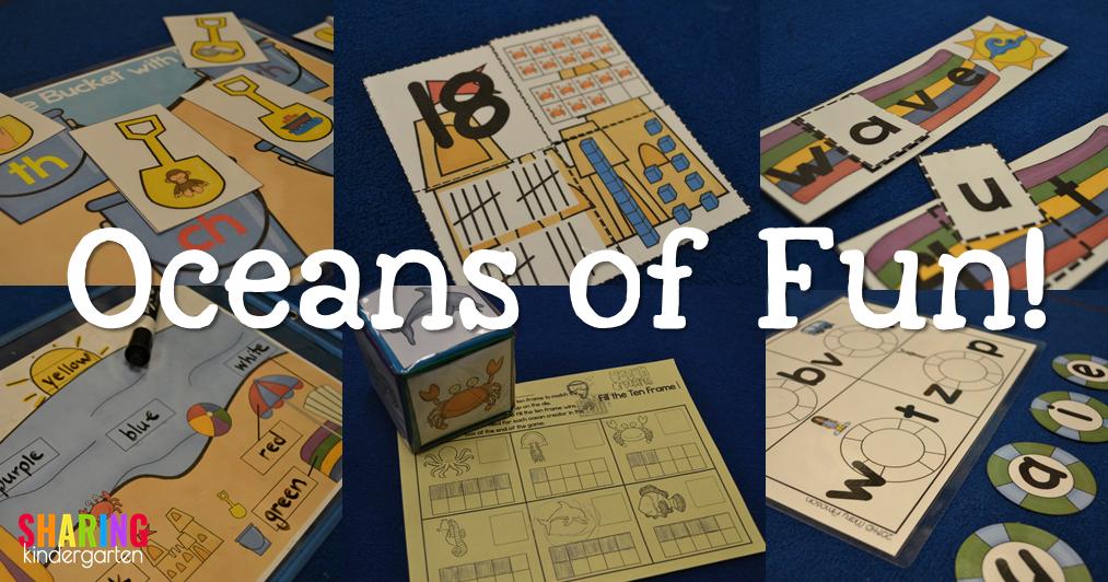 Ocean themed activities for kindergarten