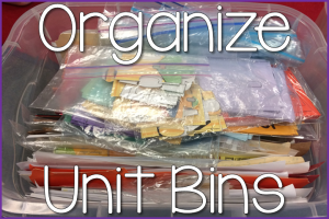Organize Your Unit Bins
