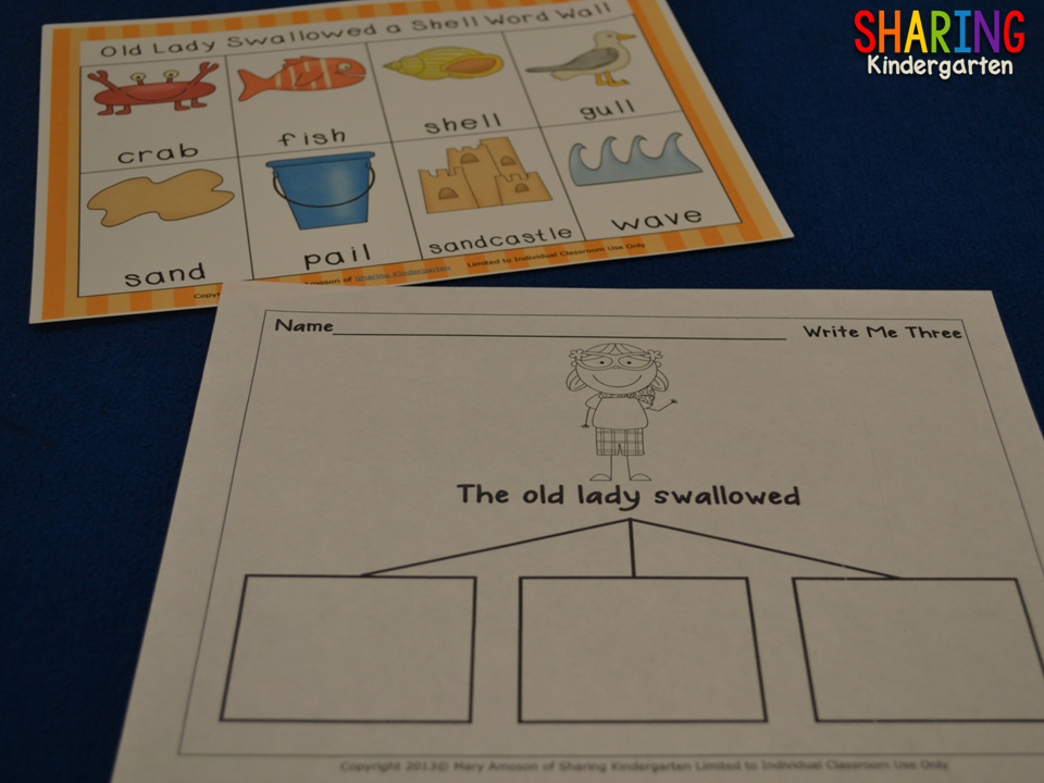 http://www.teacherspayteachers.com/Product/There-Was-an-Old-Lady-Who-Swallowed-a-Shell-Literacy-230367