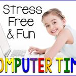 NEW Computer Center Sheet and a FREEBIE