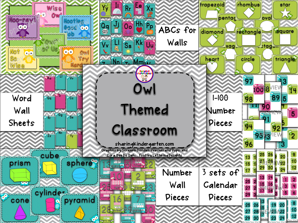 http://www.teacherspayteachers.com/Product/Owl-Themed-Classroom-745940