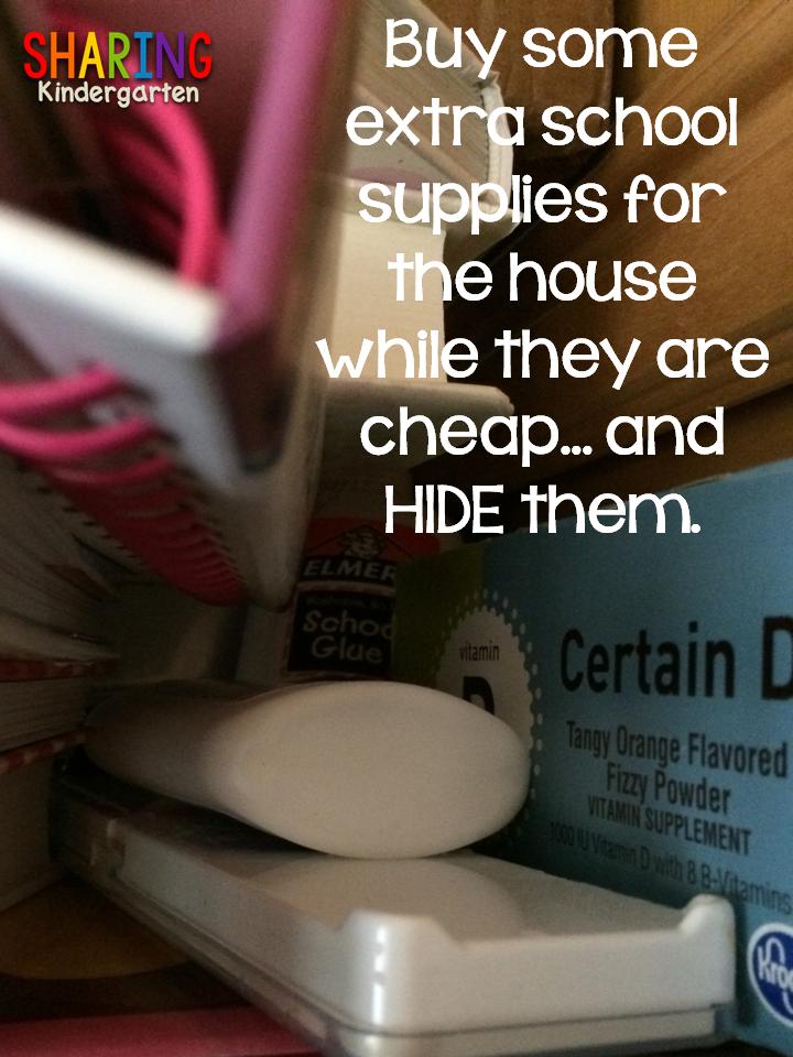 Stash extra supplies